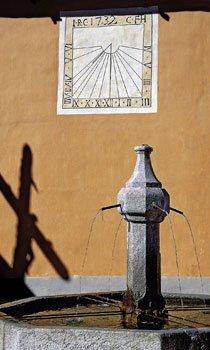 Cadran Zarbula après restauration Eglise de Ceillac