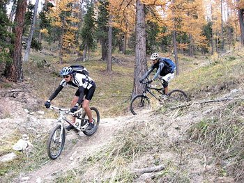 La mountain bike nel Queyras in Francia