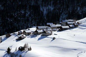 La frazione di Villargaudin un giorno di neve neige.