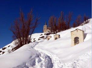 Le chemin de croix d'Abriès construit en 1850 et restauré au siècle suivant