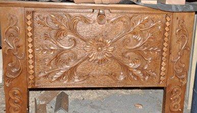 Artigianato del legno a Saint-Véran : baule scolpito