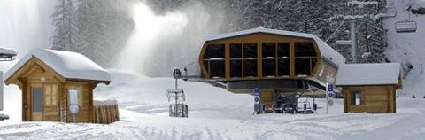Stazione di partenza di sci alpino a Ceillac (Queyras, Hautes Alpes)