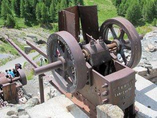 die alte Kupfermine in Saint-Véran echtes Museum im Freien
