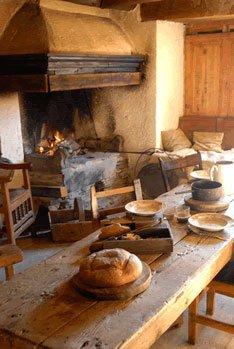 Das 'Fougagne' das Zimmer, in dem man Feuer machte.