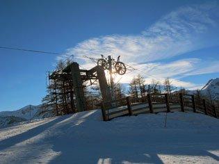 Haut des pistes de ski alpin à Arvieux