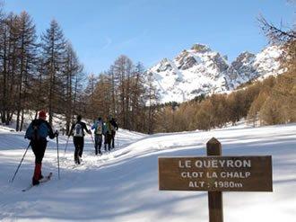 Randonnée à ski au Queyron (Arvieux)