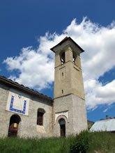 Die evangelische Kirche Fontgillarde in Molines-en-Queyras