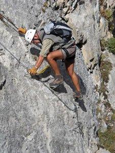 The via ferrata of Pra Premier in Arvieux
