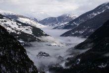 Le Guil dans la brume (Queyras, Hautes Alpes)