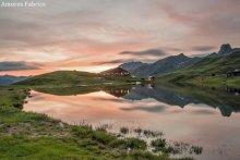Dolcezza della sera al rifugio della Blanche in Saint-Véran (Alte Alpi)