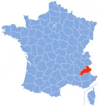 Die Hautes Alpes auf der französischen Karte