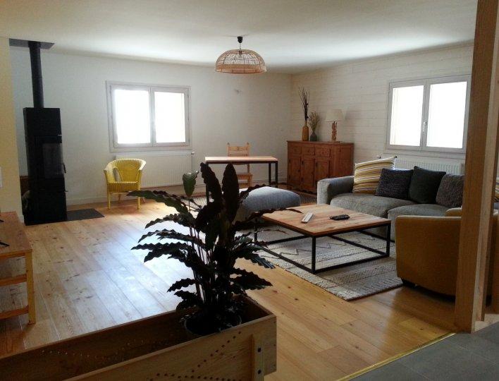 Salon appartement Soleil Chalet Rochebrune