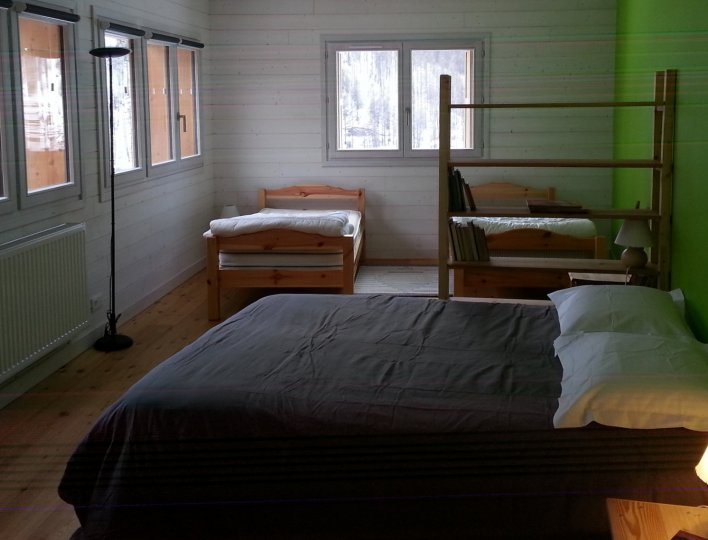 Chambre 2 appartement Soleil Chalet Rochebrune