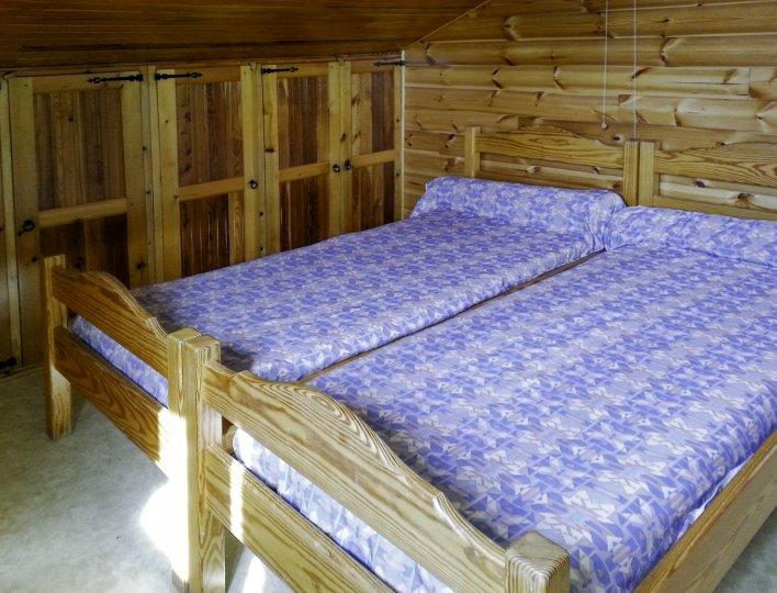 Chalet Les Heuvières - Appartement à Ceillac - Chambre avec deux lits simples