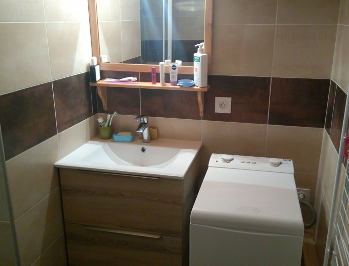 Chalet Les Heuvières - Appartement à Ceillac - salle d'eau