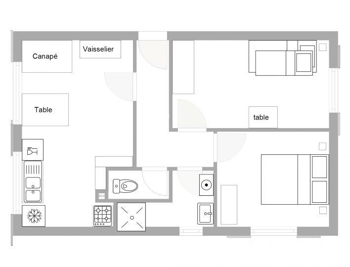 Chalet Lou Peyroc à Ceillac - Appartement 5 personnes 2* plan