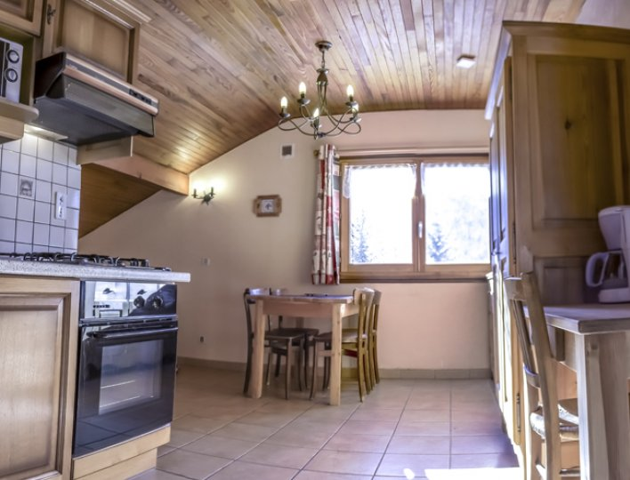 Chalet Lou Peyroc à Ceillac - Appartement 2 personnes 2* cuisine