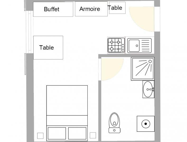 Chalet Lou Peyroc à Ceillac - Appartement 2 personnes 2* plan