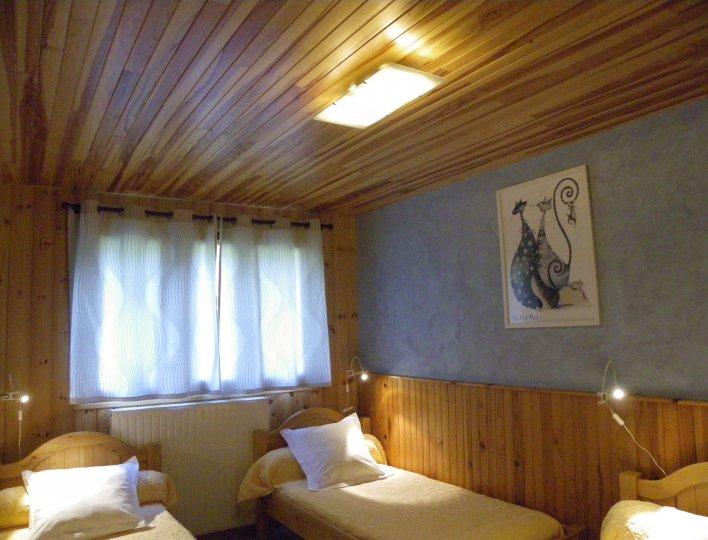 Chambre avec 3 lits en 90 du Lou Djara