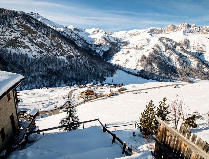 La vue en hiver du Chatelet, maisonnette indépendante 8835 pour 5 personnes