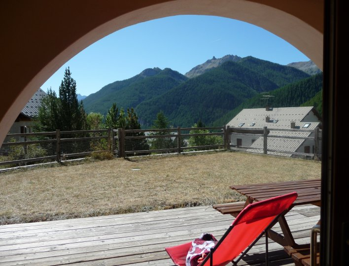vue sur la vallée de la terrasse